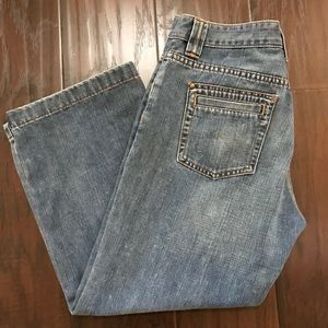 Old navy low waist wide leg crop jeans